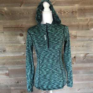 Reebok Blue Long Sleeve Hooded Zip up With fleece